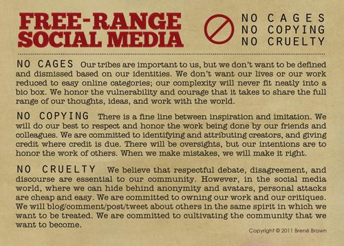 image of Free-Range Social Media Manifesto