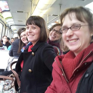 Friends make things easier. Going to the Seattle Space Needle with Becky, Allison, Kasey, Verletta.