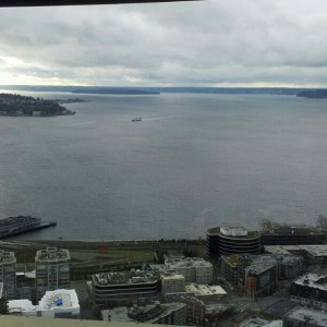 Image of Puget Sound from the Seattle Space Needle, WA