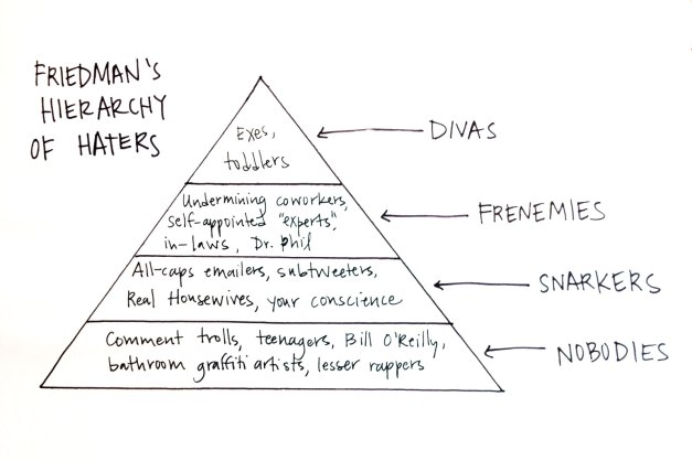 image of Friedman's Hierarchy of Haters