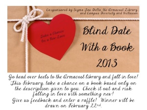 Image of digital advertisement of Blind Date With a Book 2013 at University of Redlands