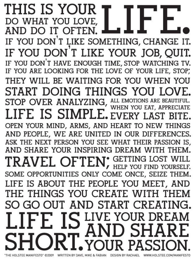 image of Holstee Manifesto