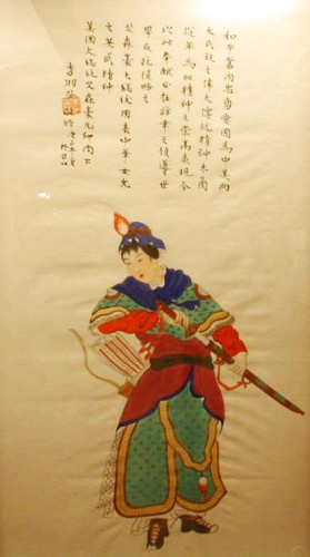 "Ballad of Mulan. 6th Century. Oil on silk painting: ""Hua Mulan Goes to War."""