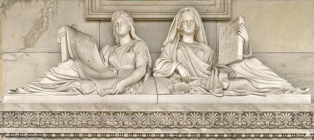 image of Justice and History sculpture from the U.S. Capitol.