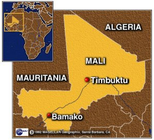 Where is Timbuktu? In Mali, a country in West Africa. Image from Atlanta Blackstar.