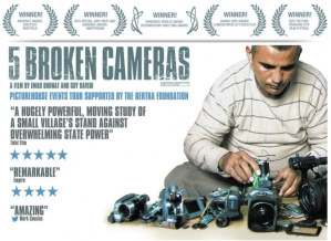 publicity poster for documentary 5 Broken Cameras