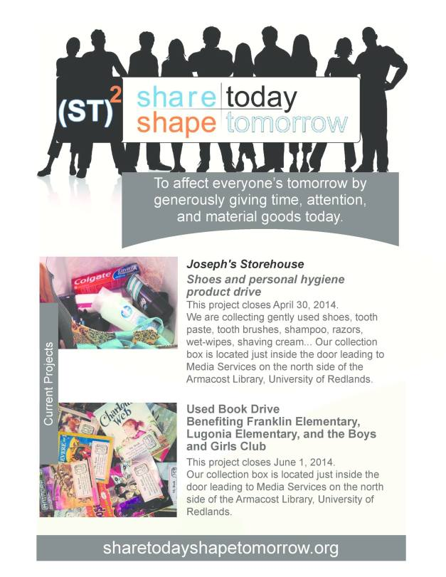 Image of publicity flyer for Share Today, Shape Tomorrow.