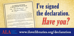 I've signed the Declaration for the Right to Libraries. Have you?