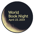 Image of the World Book Night logo with the date April 23, 2014.