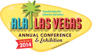 Image of logo for ALA Annual Conference 2014 at Las Vegas, Nevada.