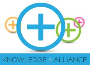 Image of the splash icon of the Knowledge + Alliance Initiative.